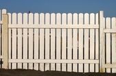 White fence — Foto Stock