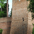 Tower in surrounding walls of Rome — Stock Photo