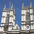Westminster Abbey towers — Stok fotoğraf