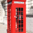 Stock Photo: London red telephone box