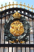 Emblem in Buckingham Palace — Stock Photo
