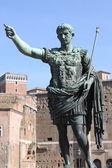 Statue of emperor Augustus — Stock Photo