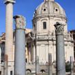 Trajan column and Ulpia Basilica — Stock Photo
