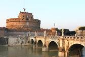 Saint Angel Castle and the Angel's bridge — 图库照片