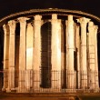 Temple of Vesta by night — Stock Photo