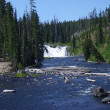 Stock Photo: Lewis Falls in Yellowstone Park