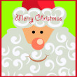 Christmas card with Santa — Stock Vector #7509583