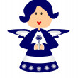 Royalty-Free Stock Imagen vectorial: Christmas angel