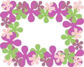 Flower frame — Stock Vector