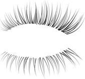 Vector eyelash — Stock Vector