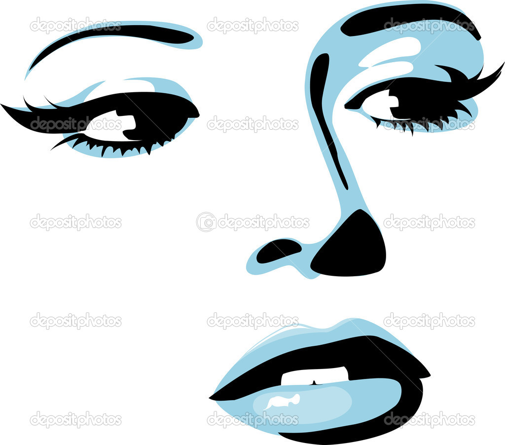 Beautiful vector girl  Stock Vector #6883055
