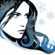 Winter girl — Stock Vector #7049096