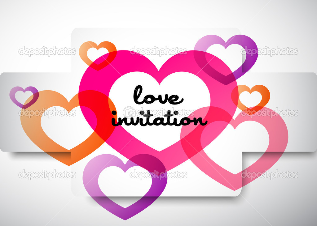Love invitation  Stock Vector #6762362