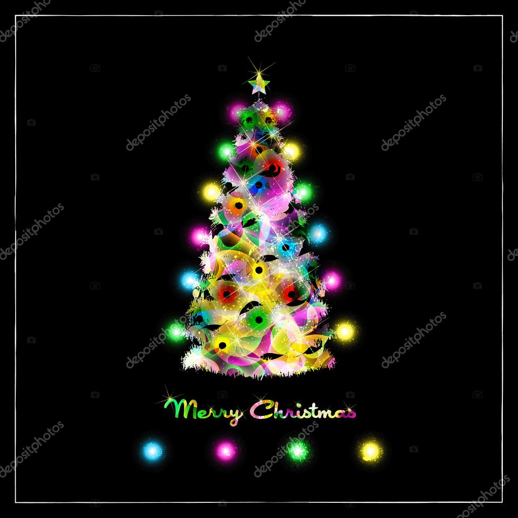 Colorful Abstract Christmas Tree — Stock Vector #7145344