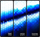 Blue banners — Stock Vector