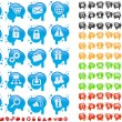 Icon set on splats — Stock Vector #6864408