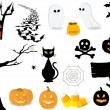Halloween icon set. — Stockvectorbeeld