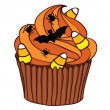 Halloween Cupcake - Stock Vector