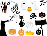 Halloween icon set. — Stock Vector