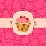 Pinky cupcake — Stock Vector #6965742