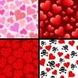Seamless hearts — Vector de stock #7153085