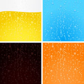 Drinks backgrounds collection — Stock Vector