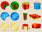 Presentes de natal — Vetorial Stock