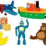 Toys set — Stock Vector