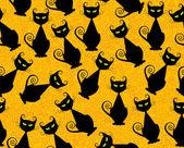 Zwarte kat — Stockvector