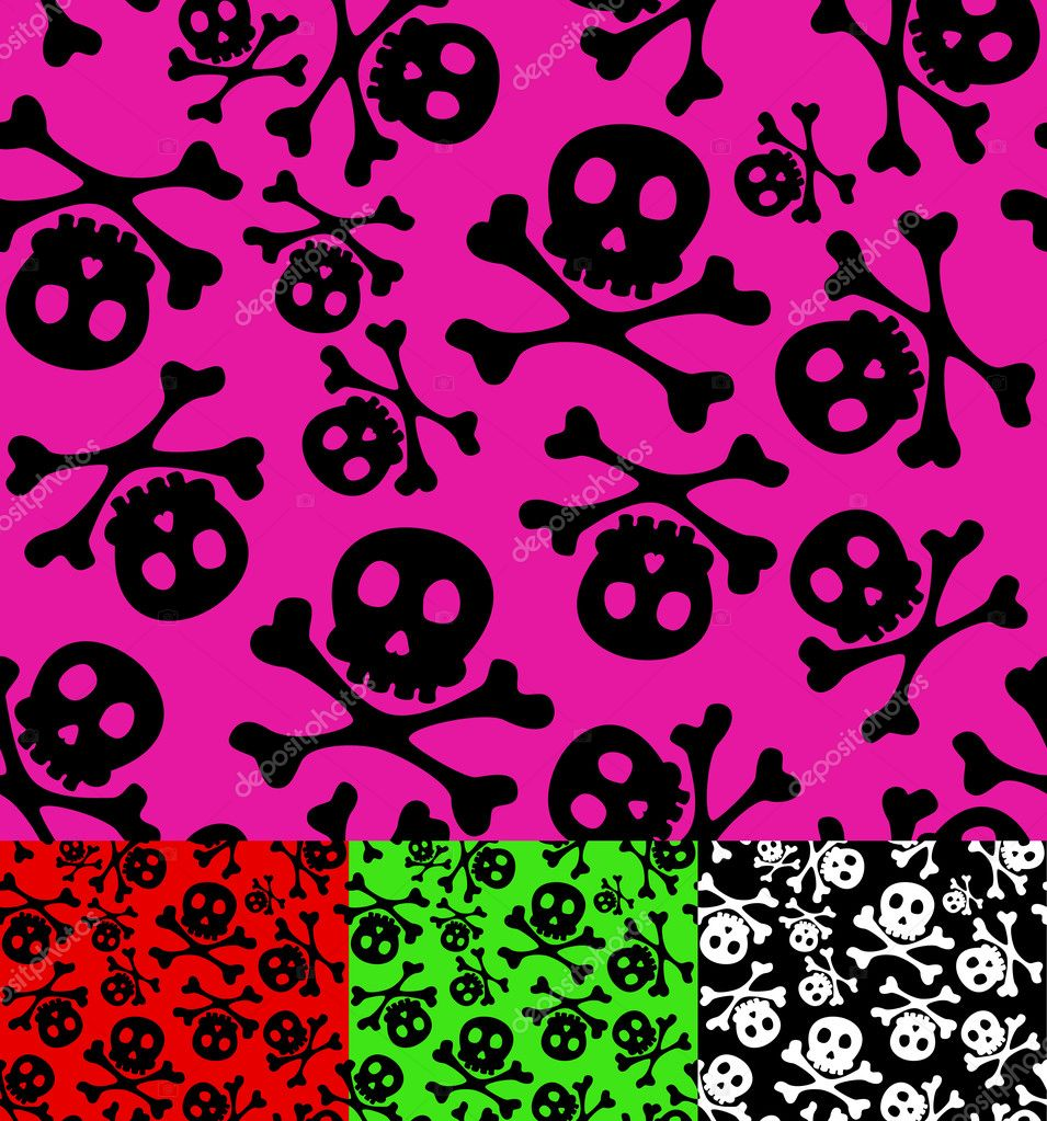 Skull and crossbones seamless pattern. — Stock Vector #7266805