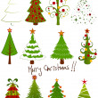 Royalty-Free Stock Vector Image: Christmas tree set