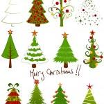 Christmas tree set — Stock Vector #7303524