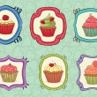 Yummy Cupcakes! — Stock Vector