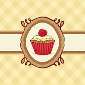 Cupcake Card — Vetorial Stock