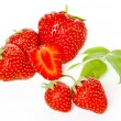 Group of the red strawberries isolated on white — Stock Photo #6765553