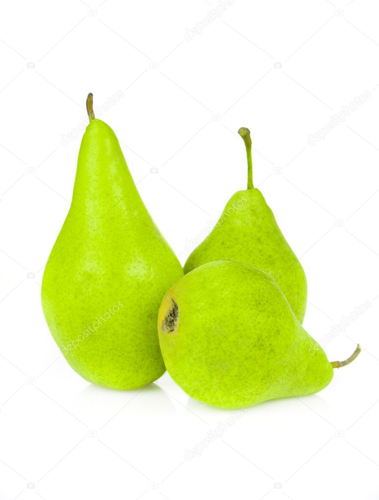 Juicy pears isolated on white background — Stockfoto #6887957