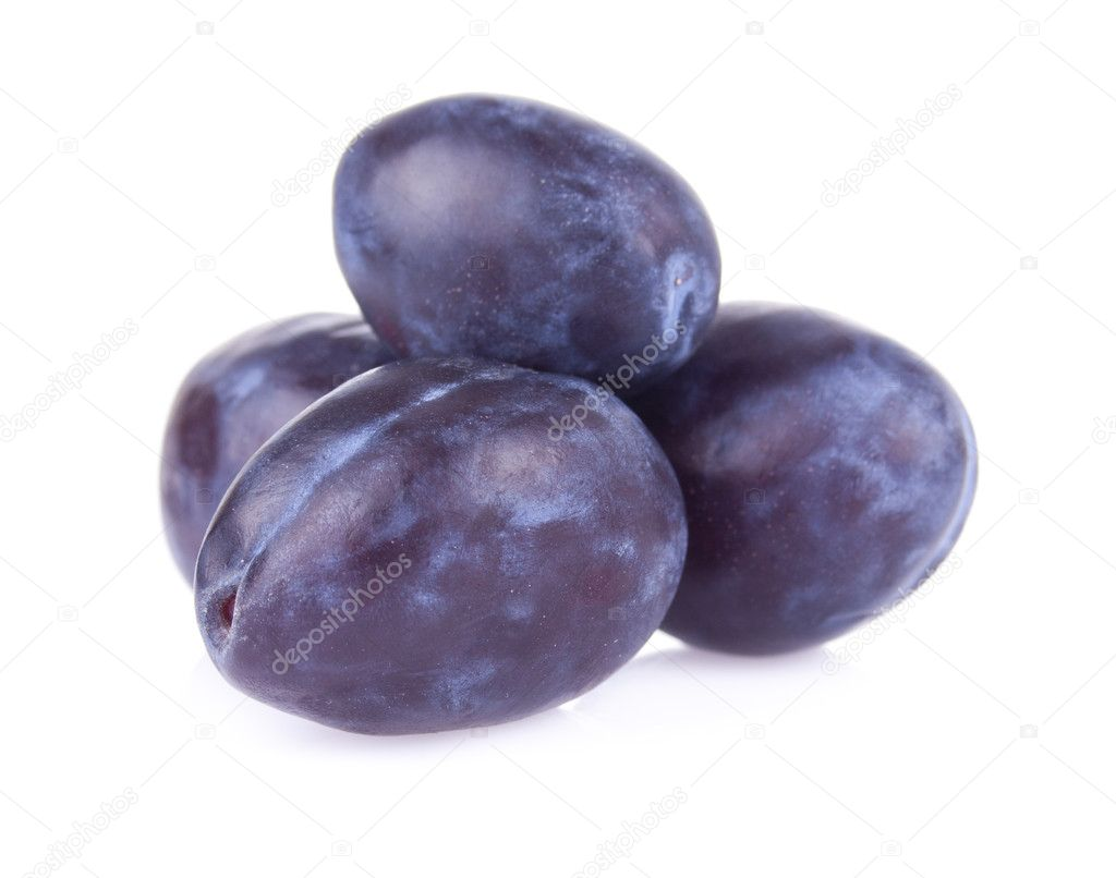 Juicy delicious plums with bone  Stock Photo #6888023