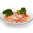 Stock Photo: Frozen marine King prawns
