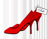Red shoes for sale — Stock Vector