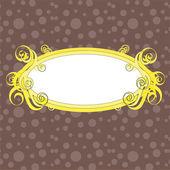 漩涡帧橙褐色的背景上 — 图库矢量图片