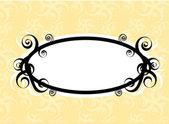 Swirls oval frame — Stock Vector