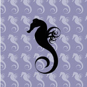 Sea horse background — Stock Vector