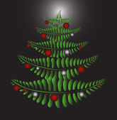 Fern Christmas tree — Stock Vector