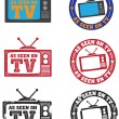 As Seen on TV Stamps - Stock Vector