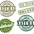 Natural & Organic Stamps — Stock Vector