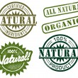 Natural &amp; Organic Stamps - Stock Vector