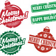 Vintage Christmas Stamps — Stock Vector