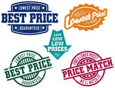 Low Price Stamps — Stock Vector