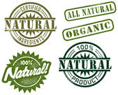 Natural & Organic Stamps — Wektor stockowy