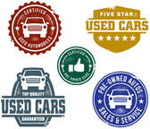 Used Car Stamps — Stockvektor